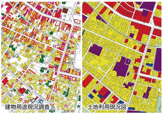建物用途現状調査、土地利用現状図