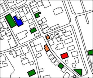 空き家損傷度判定図