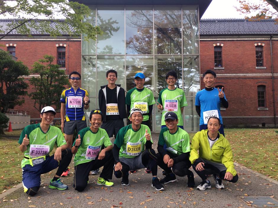 金沢マラソン2016に当社ランニングクラブが出走いたしました!