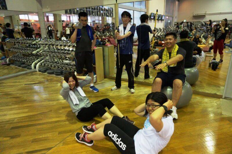【トレーニングクラブ】和気あいあいとトレーニングに励んでいます。